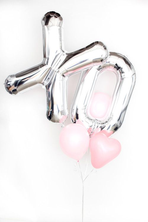 """Mylar Balloon Letter X - Silver - 34"""" at The TomKat Studio"""