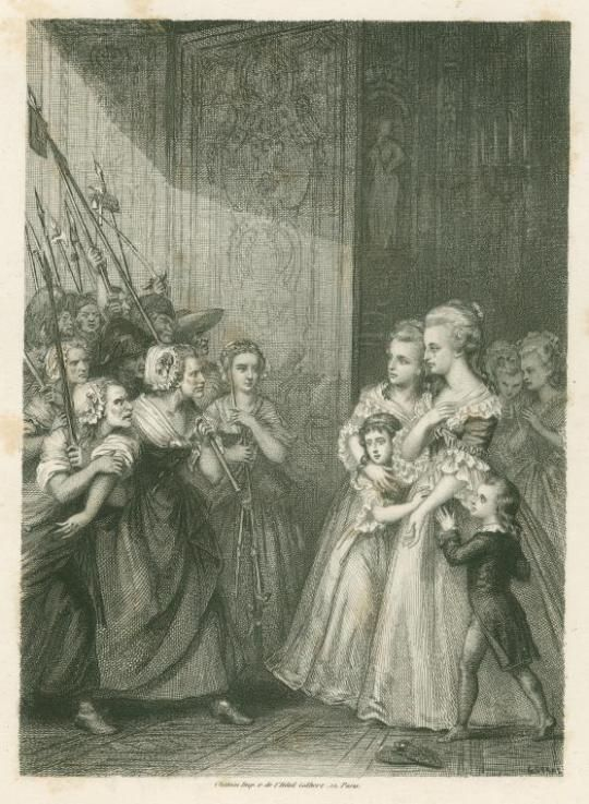 Illustration of what I'm guessing is the Women's March on Versailles.