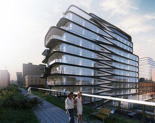 New Renderings of Zaha Hadid's Swooping High Line Condo