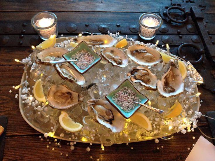 Oysters in Chalet Grace, Zermatt http://www.skiinluxury.com/switzerland/zermatt/chalet-grace