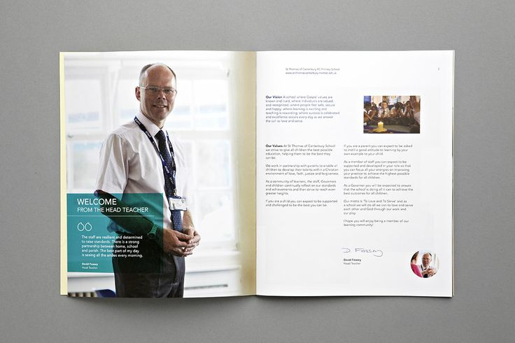 St Thomas of Canterbury School Prospectus - Headmaster's Welcome - Carr Kamasa Design - London