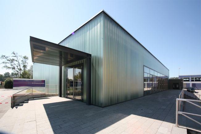 Neubau des Donausaals in Mauthausen.