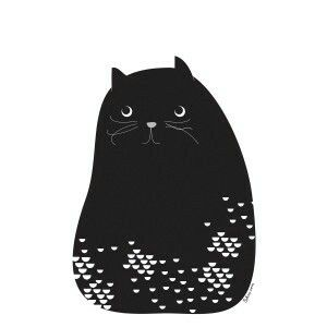 Cat. Illustration by Sokru, Outi Virtanen. www.sokru.com