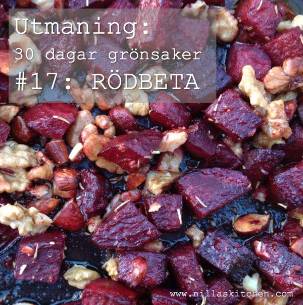 Ugnsrostade rödbetor med nötter