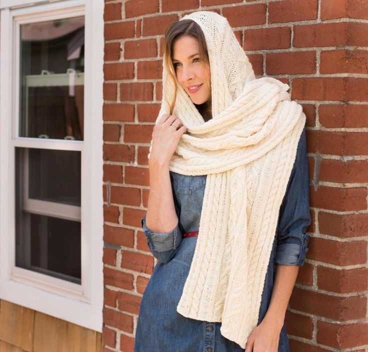 Helsinki II Hooded Scarf Knitting Kit by Rowan featuring Pure Wool Worsted Yarn | Craftsy