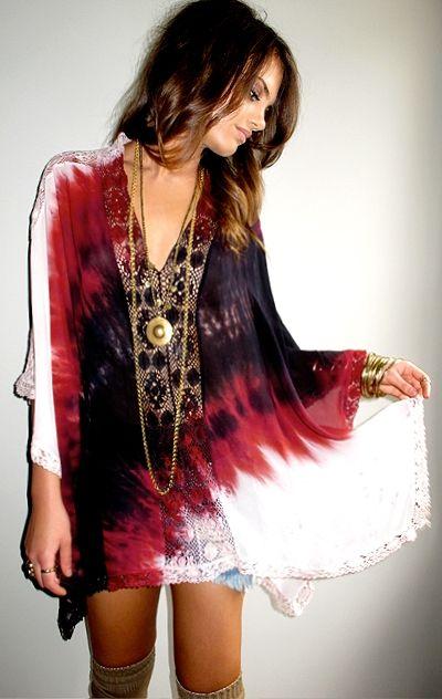 awesome tie dye dress