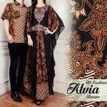Baju Muslim Batik Couple Alvia Brown