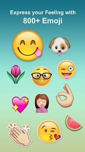 Best Emoji Keyboard - Supports everywhere such as Emails, SMS, and all type chat messenger at make input Emoji more convenience.  https://play.google.com/store/apps/details?id=com.best.emojismartkeyboard&hl=en