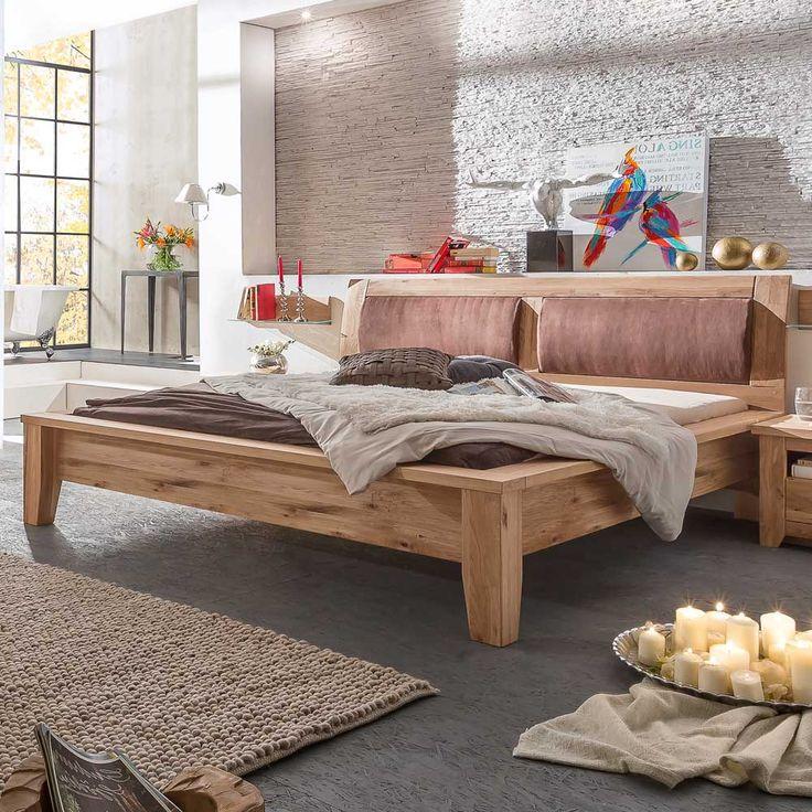 Komfortbett mit gepolstertem Kopfteil Eiche Jetzt bestellen unter - schlafzimmer eiche massiv
