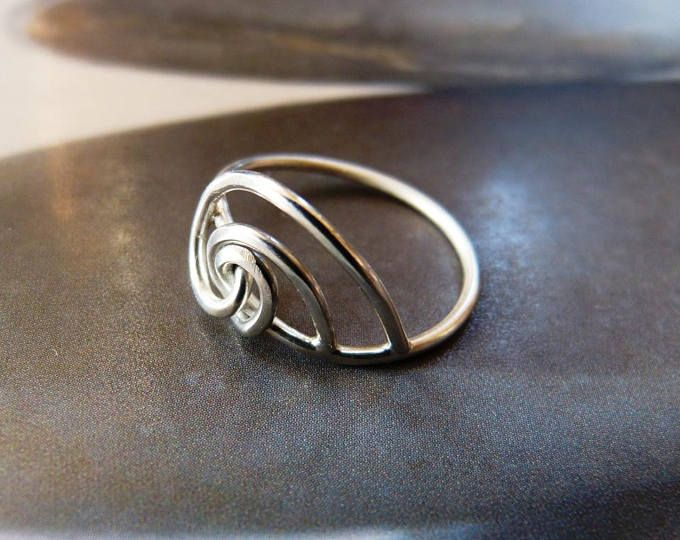 Wave silver ring, metalwork ring, handmade, natural jewelry, OOAK, small gift, for her, for women, for wife, gift for mother, birthday gift