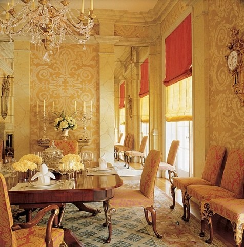 John stefanidis in the dining room are several mirrored for Roman pantry