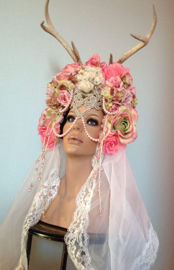 Floral Bridal Headdress : Best images about festival hats on