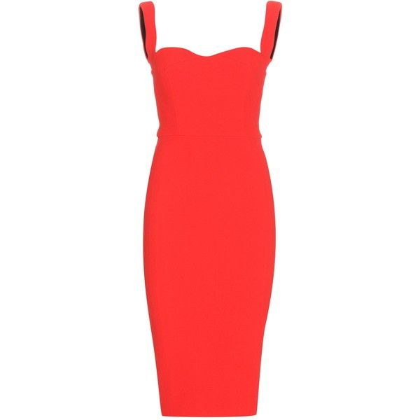 Victoria Beckham Curve Cami Fitted Dress found on Polyvore featuring dresses, red, camisole dress, victoria beckham dresses, cami dress, tight red dress and fitted dresses