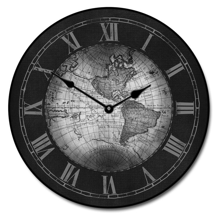 Buy World Map Clock. Century World Map Gray Clock by TheBigClockStore on Etsy 25 best Clocks images Pinterest  maps Big clocks