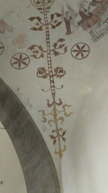 Takmålning kor klinte kyrka