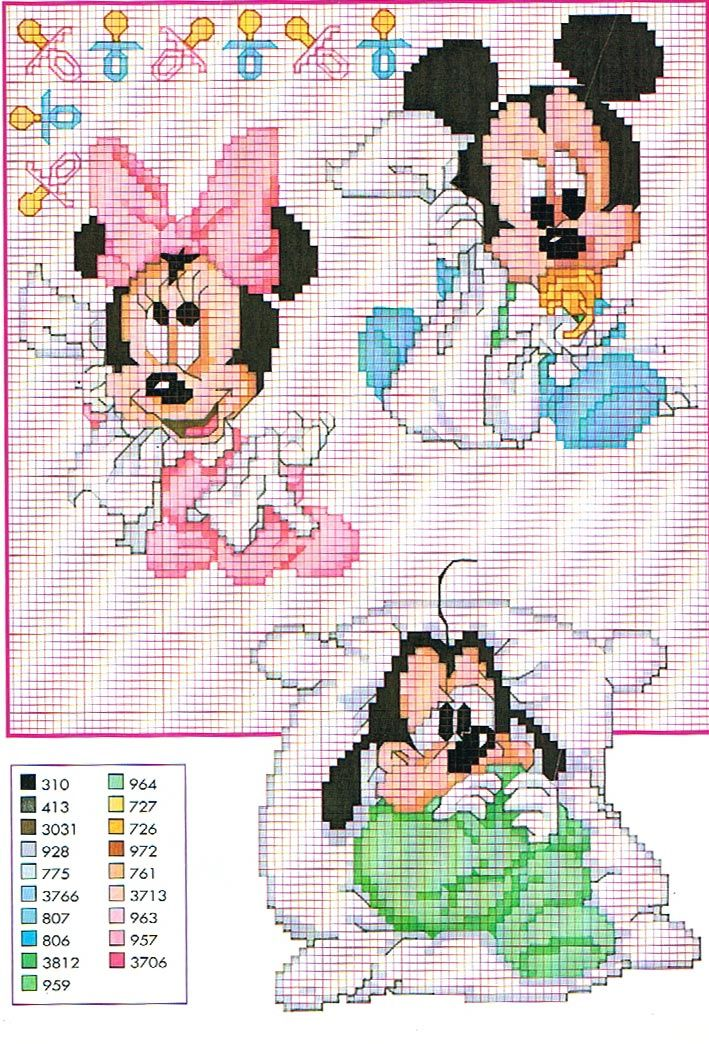 Cantinho da Bet: Ponto Cruz Disney Babies