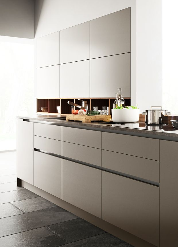 Modern Kitchen Cabinets with Goldreif by Poggenpohl Modern