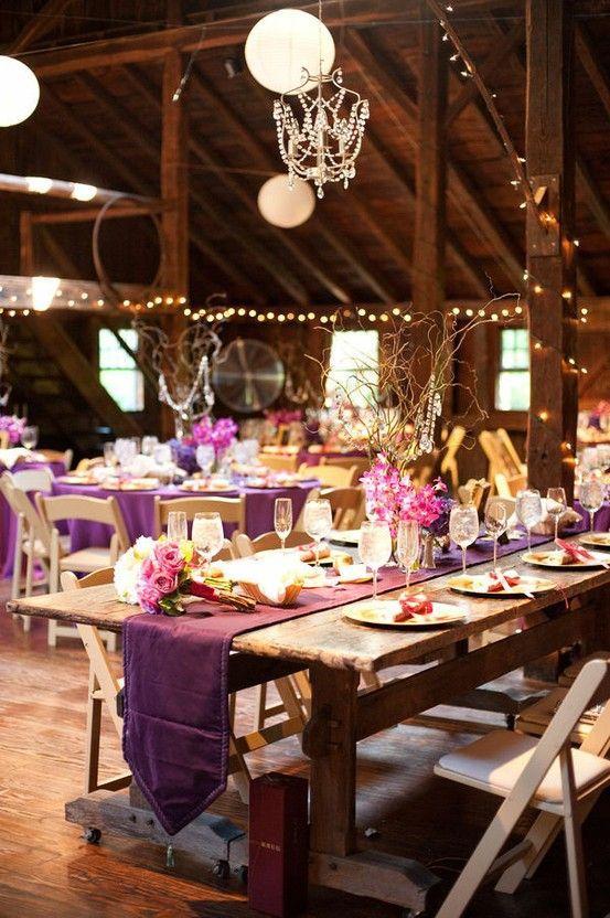 UK Wedding Trends Purple Festival Weddings And Wellies