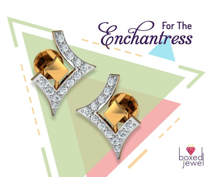 Step into the shoes of a fashionista with these unique pair of earrings.   #Gold  #Diamond  #Earrings  #Jewelry