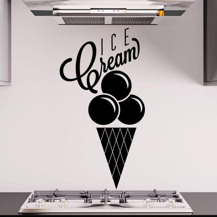 Ice Cream wall sticker catering Kitchen pub cafe restaurant Decals Vinyl r15