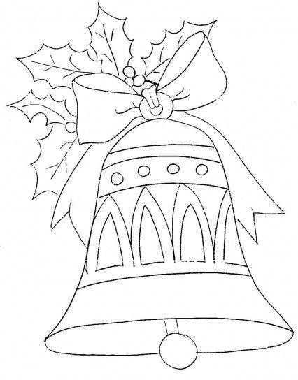 Disegni di Natale da colorare campanella