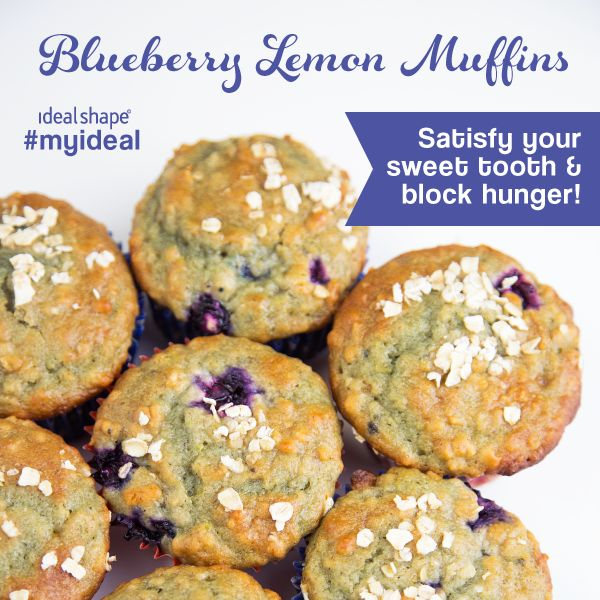Recipe variation from Damn Delicious, but we added vanilla IdealShake mix and used lemon instead of orange. #idealshape #muffins