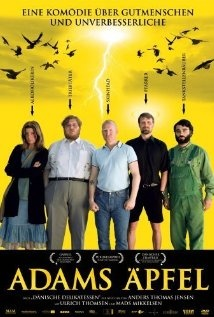 """Adam's Apples - This is a Danish film with English subtitles. I've been surfing the """"Get your Netflix off the web"""" this summer, and I'm watching films that I would never have ordered when Netflix was order by mail only. This movie is considered a dark comedy. Well it's dark, and it's funny, but it also uplifting. Peel away the blood, guns, and violence, and what you have here is a very fine Christian movie. It's worth watching."""