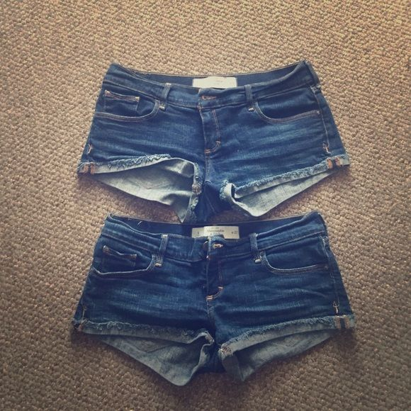 Abercrombie and Fitch shorts Abercrombie and Fitch blue Jean shorts size 4 & 6. Can sell together or separately. Open to offers Abercrombie & Fitch Shorts Jean Shorts