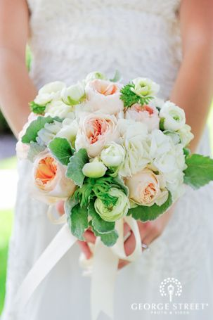 What a soft and elegant peach wedding bouquet!   http://www.georgestreetphoto.com/blog/vintage-west-point-wedding-new-york/