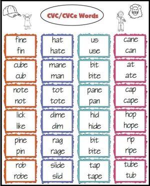 cvc/cvce and cvc/c v v c words to practice reading- Freebie! by Cjones73