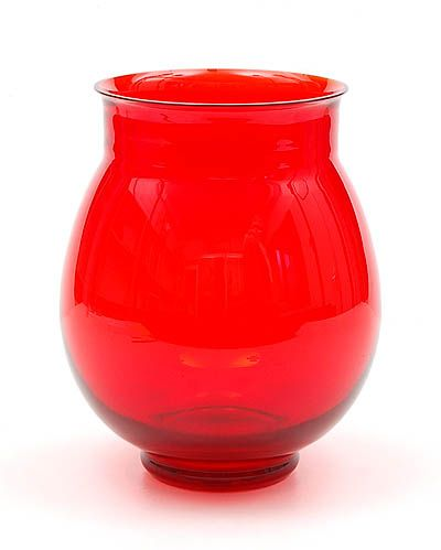 Red-glass vase design A.D.Copier 1928 executed by Glasfabriek Leerdam / the Netherlands in this colour exclusively produced for the US market