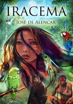 "Capa do livro ""Iracema"" de José de Alencar."