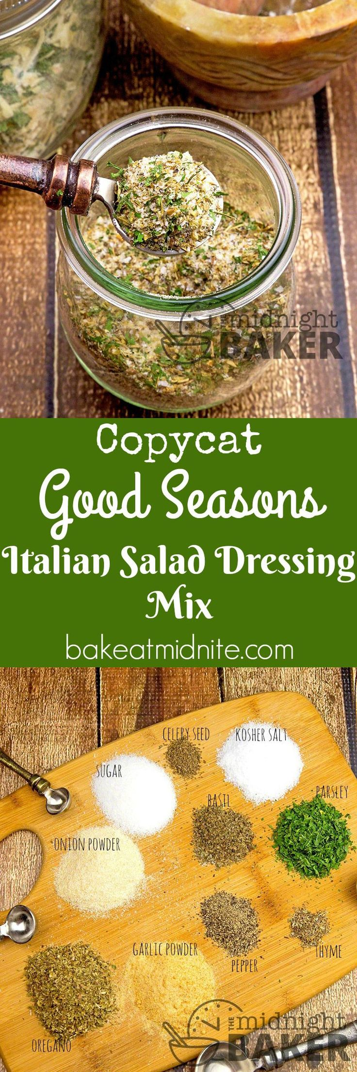 A copycat of Good Seasons Italian dressing mix that's inexpensive to make. You won't buy it again!