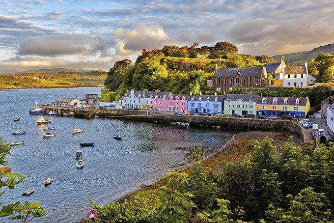 Город Портри на острове Скай, Шотландия