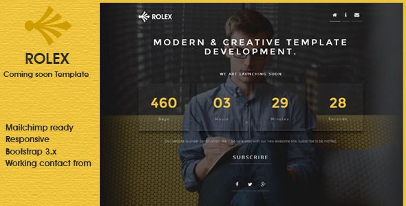 ROLEX - Responsive Coming Soon Template