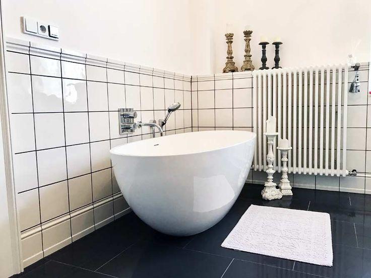 Freistehende Badewanne Piemont Medio Aus Mineralguss   Weiss Matt Oder  Glänzend