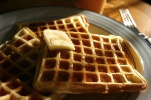 "Paleo Waffles. Just made a double batch, made three 6"" waffles in our ..."