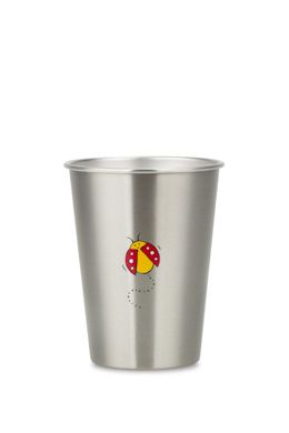 NEW LOOK LADYBEETLE cup from ecococoon. 350ml illustrated stainless steel cup RRP $10.95