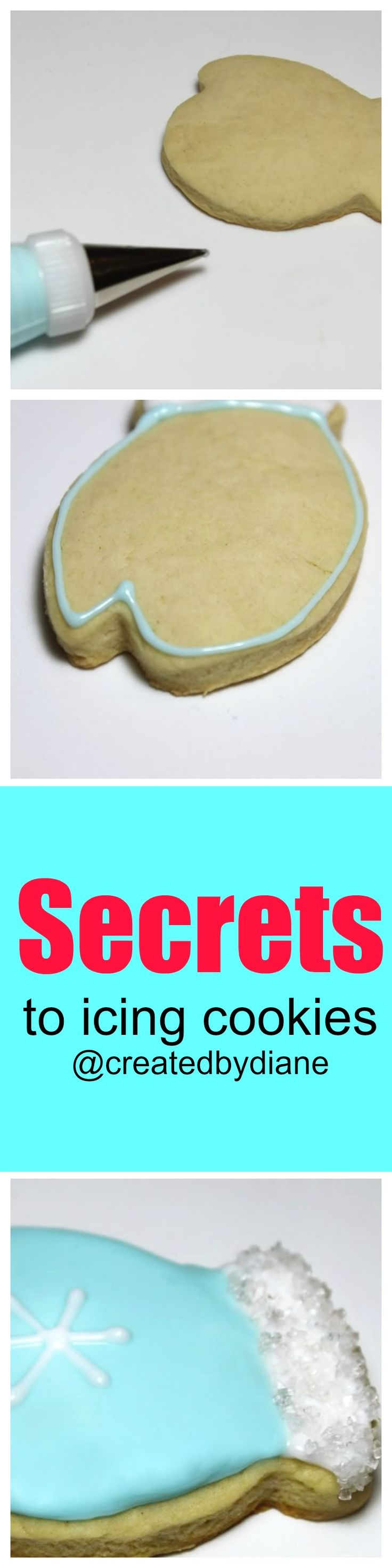 secrets to icing cookies @createdbydiane