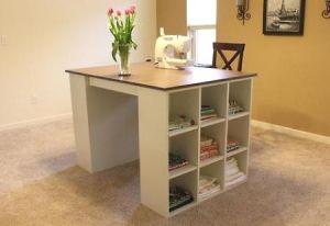 DIY craft table desk