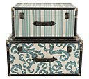 Set of 2 Fabric Decorative Suitcases by Valerie — QVC.com