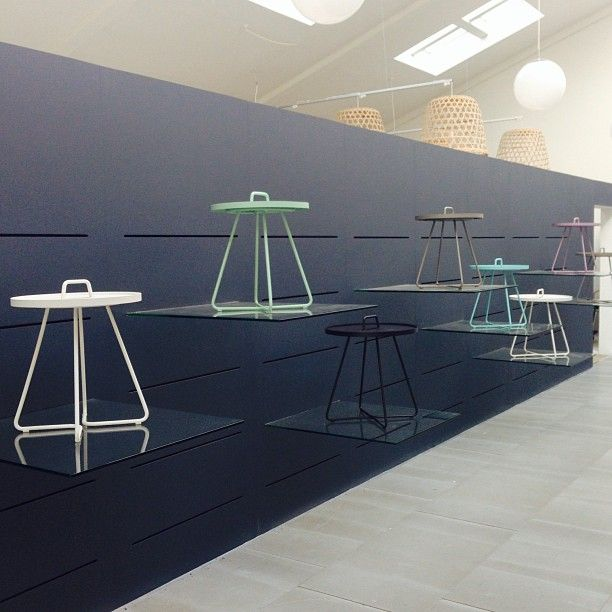Cane-line Showroom. On-The-Move tables. We are preparing for Danish Design Days 2013. http://www.danishdesigndays.dk