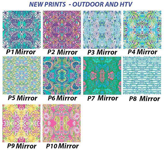 Lilly Pulitzer inspired vinyl Lilly Pulitzer Vinyl Pattern