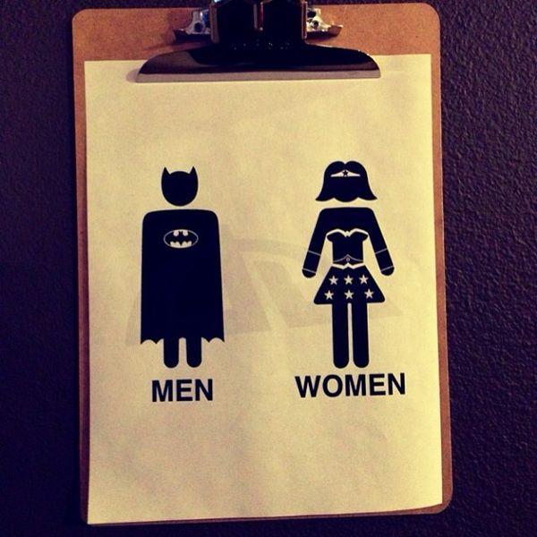 Batman Bathroom Sign: The #superhero Bathroom At @CommonDesk #fordtx