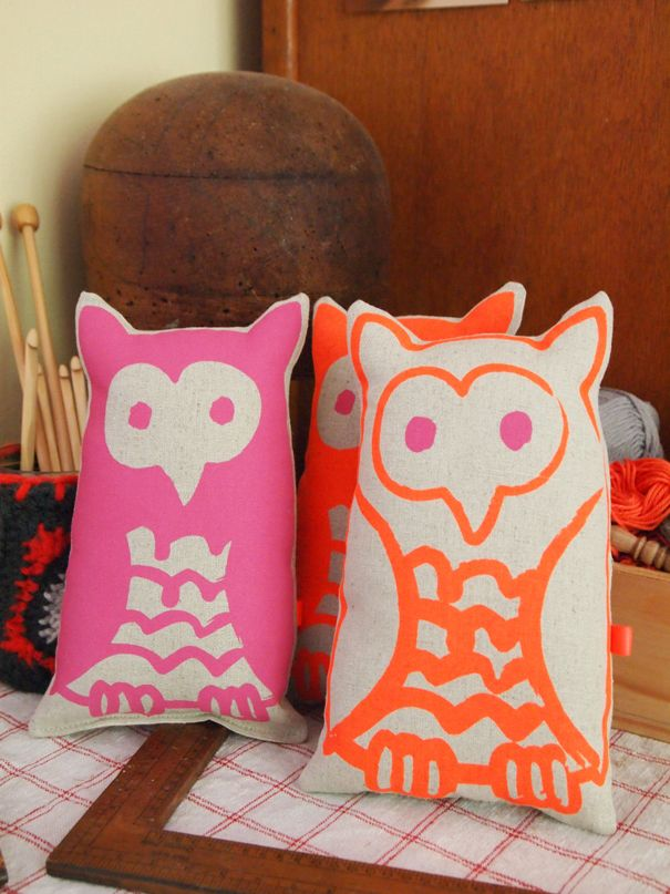 Little Owls.  Pink and Orange, gorgeous for little ones.