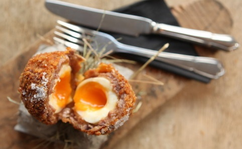 Venison scotch egg at the Harwood Arms