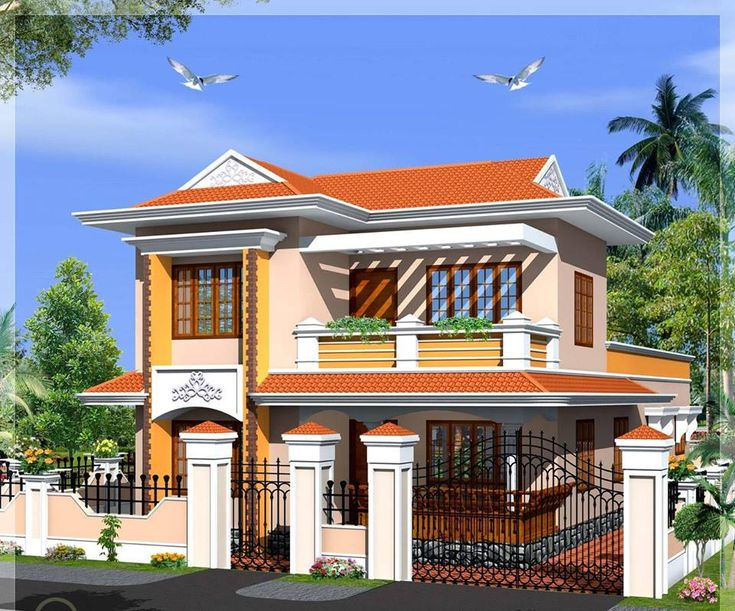 111 best images about beautiful indian home designs on for South indian model house plan