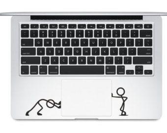 "Push Touchpad - Apple Macbook Laptop Keyboard Decal Sticker Vinyl Mac Pro Air Retina 13"" 15"" 17"" Inch Skin Cover"