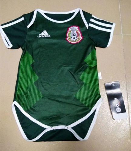 2a001935a 2018 World Cup Mexico Home Green Baby Soccer Uniform