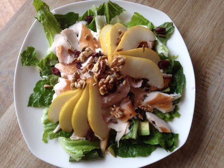 Recept:+herfstige+salade+met+peer+en+kip